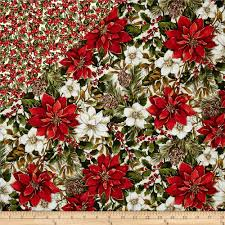 Woodland Christmas Double Face Quilted Pine Cones & Poinsettia Red ... & Woodland Christmas Double Face Quilted Pine Cones & Poinsettia Red -  Discount Designer Fabric - Fabric.com Adamdwight.com