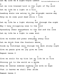 Let The Light In Lyrics Country Southern And Bluegrass Gospel Song Let My Life Be A