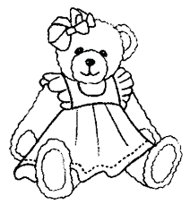 Teddy Bear With Heart Coloring Pages Cute Sheets Smlf Pictures To