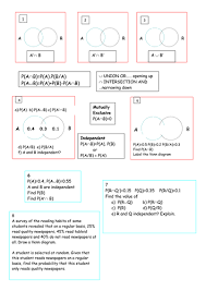 Venn Diagram Math Formula Probability Summary Doc Venn Diagram Formula Teaching