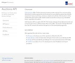 Gsa Fas Organization Chart Gsa Auctions Api Overview Documentation Alternatives
