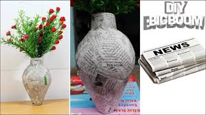 News Paper Flower Vase How To Make Flower Vase With Newspaper Step By Step 2018 Dbb