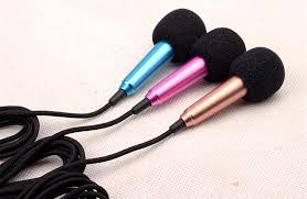 mini protable microphone small karaoke microphone portable mini golden purple blue silver