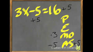 solve 1 2 step equations order of operations backwards