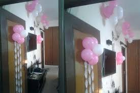 birthday party decoration at home in india simple decor balloon