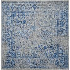 blue square rug vintage distressed grey blue rug square 8x8 square blue rug