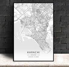 Best home decoration & interior designer shop in pakistan. Karachi Pakistan Modern City Map Canvas Art Print Home Room Decor Poster Painting Calligraphy Aliexpress