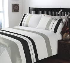 seattle grey black and white duvet cover plain king size sweetgalas