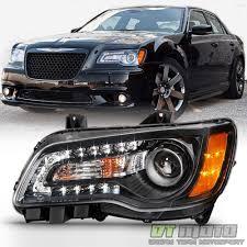 2014 Chrysler 300 Lights Factor Style Black 2011 2014 Chrysler 300 Halogen Led Drl