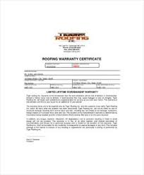 Special Warranty Certificate Templates Free 123certificate