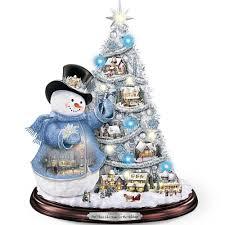 Lighted Snowman Snow Globe Thomas Kinkade Statue Musical Lighted Snowman Christmas