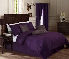 image of simple purple comforter sets queen