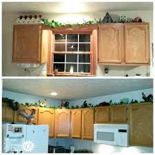 kitchen cabinet tops interior decor ideas decorating top of cabinets above tips
