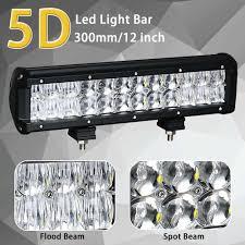Light Bar 5d Dual Row Straight Led Work Light Bar 5d Lens 4 6 5 9 12 17 20 Inch For Car Truck 4x4 Suv Atv Boat Auto Led Lamp