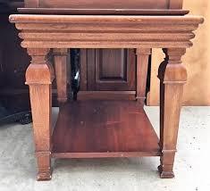 solidwoodendtablewithshelf24 solid wood end tables h80