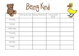 Being Kind Reward Chart Trying Reward Chart Confidence