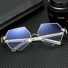 Vintage Eye Glasses Spectacles Octagon Silver Gold Plated Wire ...