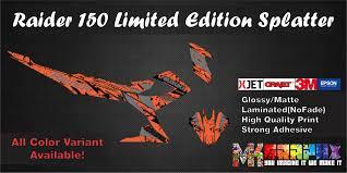 Decals Design For Raider 150 Raider 150 Fi Suzuki Custom Decals Stickers Vinyl High