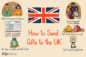 ilration explaining how to send gifts to the uk