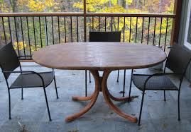 Patio Table With Sandstone Top Wilson Cunningham Custom Woodworking