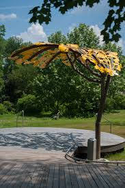 ginkgo canopy 2016 powder coated aluminum and steel 11 5 x 16 x 14 located at brookside gardens montgomery parks wheaton md