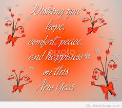 wishing comfort new year quote
