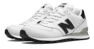 men s new balance 574 leather white black nb574alk by fmeaddons hot nb574 l white with black jpg