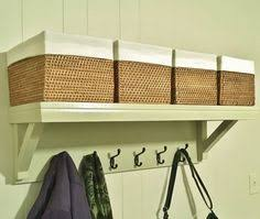 Country Style Coat Rack 100 Cubby Wall Shelf Pine Wood 1008 wide Wall Shelf Coat Rack Storage 55