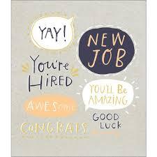 New Job Congratulations Card From Ocado
