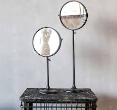 vintage inspired mirror on a stand