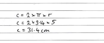 circle cirference radius calculation2