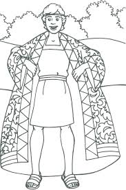 Joseph Coat Of Many Colors Free Coloring Page Coat Of Many Colors