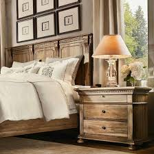 G Bedroom Furniture Made With Oak Wood Classy Table Lamp And Wall Art