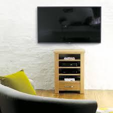 aston solid oak hidden. Aston Solid Oak Home Entertainment Cabinet - TV Unit Baumhaus Space \u0026 Shape Hidden D