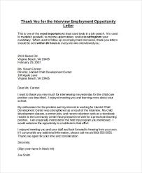 Thank You Letter For Job Opportunity Examples Free 74 Thank You Letter Examples In Doc Pdf Examples