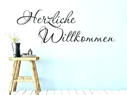 Muurversieringen Stickers Herzlich Willkommen Wandtattoo Flur