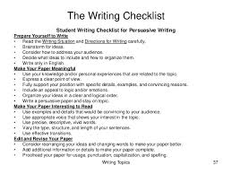 high school writing test instruction and assessment guide writing topics 37 the writing checklist student