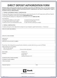 Employee Direct Deposit Authorization Agreement Direct Deposit Authorization Form Example Payroll Ach