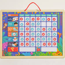 Activity Chart Kids Us 15 96 30 Off Wooden Magnetic Reward Activity Responsibility Chart Calendar Kids Schedule Educational Toys For Children Calendar Time Toys In