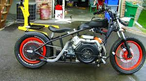 amazing custom built motorcycle with a v twin diesel