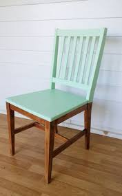 Paint just the top of your old, wooden chairs to give them a