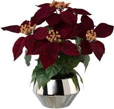 Kunstblume Weihnachtsstern Künstliche Topfpflanze Poinsettie Online Kaufen Otto