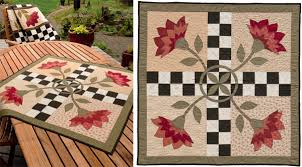 """Welcome to quilt country: creating a rustic look - Stitch This ... & Secret Garden Table Topper quilt """" Adamdwight.com"""