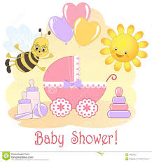 Baby Shower Card. Royalty Free Stock Photography - Image: 24894327