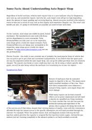 Some Facts About Understanding Auto Repair Shop