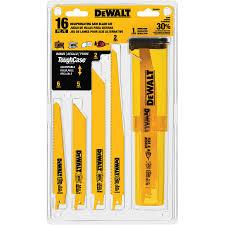 dewalt sawzall blades. dewalt 16-pack bi-metal reciprocating saw blade set dewalt sawzall blades s