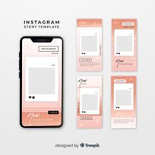 Instagram Stories Templates With Empty Frame Vector Free
