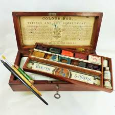 details about reeves and sons rare watercolour artists paint box c1870 antique science award