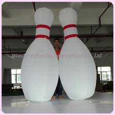 Decorated Bowling Pins Custom 100ft Giant Inflatable Bowling Pins For Bowling Ball Game 89