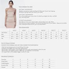 La Vie En Rose Size Chart Backless Maxi Dress